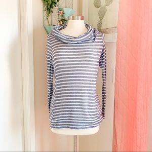 🌸🌵🌼Sonoma | Striped Cowl Neck Sweater S